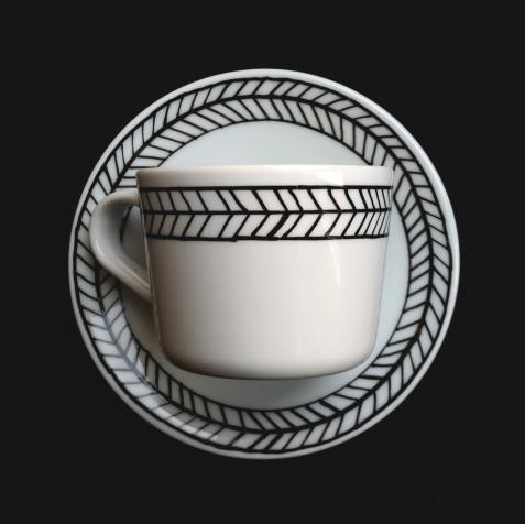 black cup set aerial